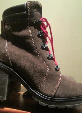 Ботильоны ботинки tamaris primaloft р.39.натур.шерсть.оригинал(маломерят)зима