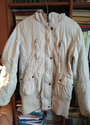 Удлинненная куртка парка серая с резинкой top secret