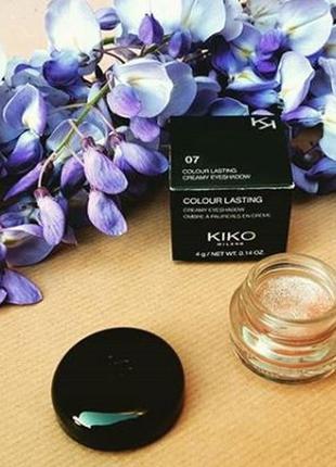 Kiko color lasting стойкие кремовые тени для век  07