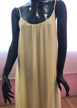 Мега яркий летний сарафан, платье размер 48.