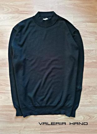 Мужской натуральный шерстяной гольф - водолазка - свитер c&a - размер 50