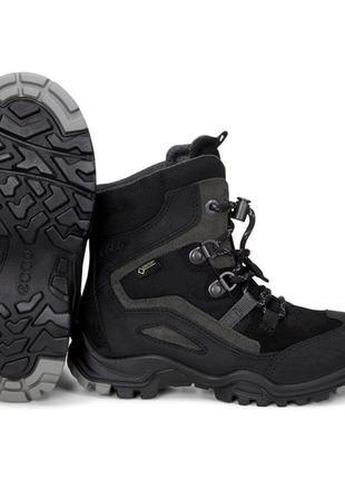 Детские зимние ботинки ecco. gore-tex оригинал