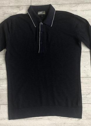 Кофта\лонгслів lee cotton wool silk cashmere striped long sleeve polo