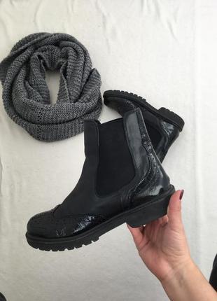 Ботинки кожаные 🥾 сапоги осень