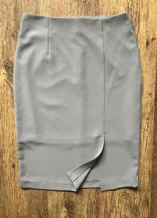 Серая юбка- карандаш