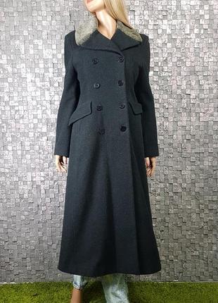 Шикарное шерстяное пальто 80% шерсть