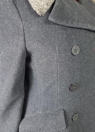Шикарное шерстяное пальто 80% шерсть3