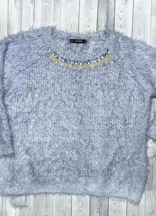 Мягкий свитер травка с камнями