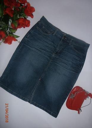 Классическая прямая джинсовая юбка cherokee