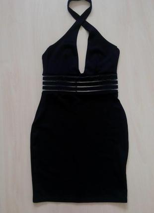 🍀сексуальное вечернее платье с вставками сеточкой на талии и открытой спиной boohoo