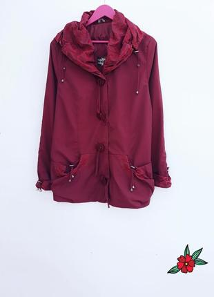 Красивая куртка парка ветровка весенняя осенняя куртка легкая качественная куртка бордо
