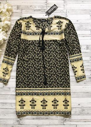Вискозная блуза-туника boohoo