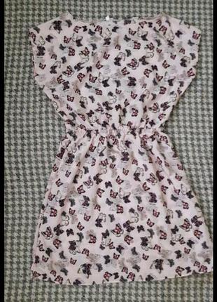 Платье летнее пудровое