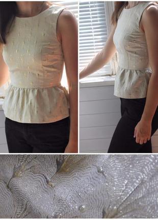 Нарядная блузка с баской от h&m, размер xl