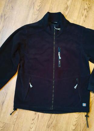 Мужская фирменная куртка ветровка rucanor - теплая, флисовая, с мембранной подкладкой