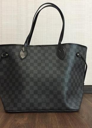 Женская сумка шопер louis vuitton neverfull