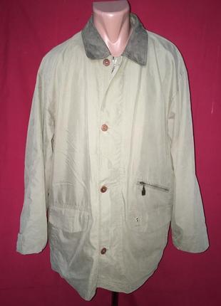 Длинная куртка пороховик на подкладке осень melka
