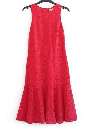 Безумно красивое кружевное платье h&m • р-р s (примерно на грудь 83-87, бедра 92-95