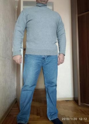 Свитер-гольф средней плотности, шерсть firetrap(great britain), xl