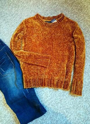 Велюровый плюшевый свитер р.44-46 от primark