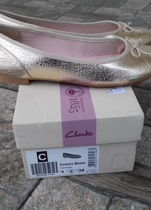 Туфли женские clarks couture bloom - 38 р. новые оригинал балетки