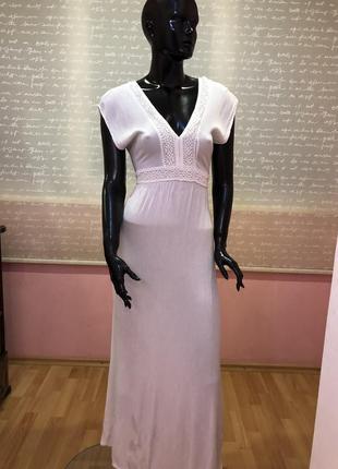 Итальянский белый сарафан, платье 100% вискоза