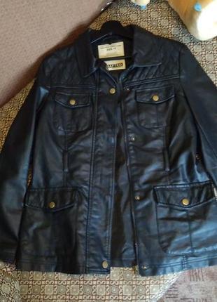 Куртка кожаная,английский бренд crafted.