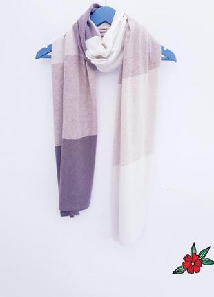 Мягусенький шарф в полоску кашемировый шарф