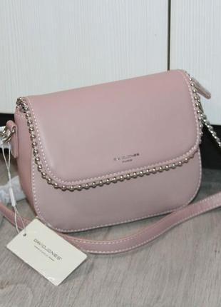 Красивая сумочка отличного качества david jones (нежно - розовая)
