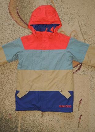 Фирменная мембранная лыжная куртка burton dryride р.158