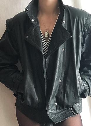 Винтажная куртка-косуха, натуральная кожа, 90-е года!