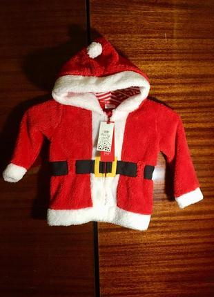 Красная тёплая новогодняя толстовка, кофта, плюшевая куртка, курточка