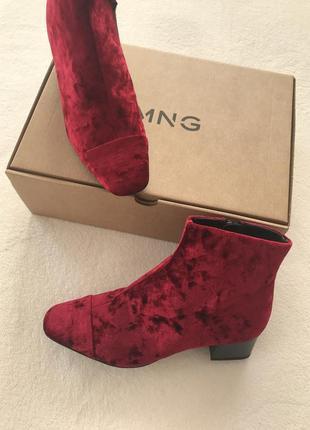Ботинки черевики mango 37 38 рр
