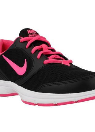 Классические черно-розовые спортивные кроссовки nike
