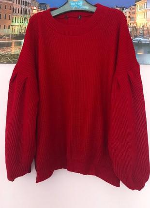 Теплая кофта невероятного цвета , свитер с широкими рукавами