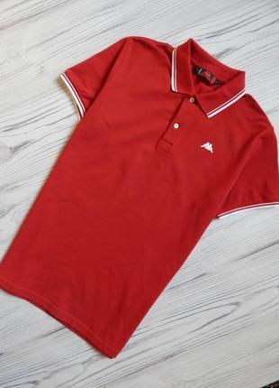 Обалденная мужская футболка, поло от kappa оригинал. размер l, xl.