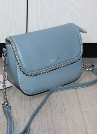 Красивая сумочка отличного качества david jones (нежно -голубая)