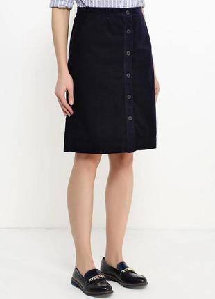 Трендовая вельветовая юбка с пуговицами от gap