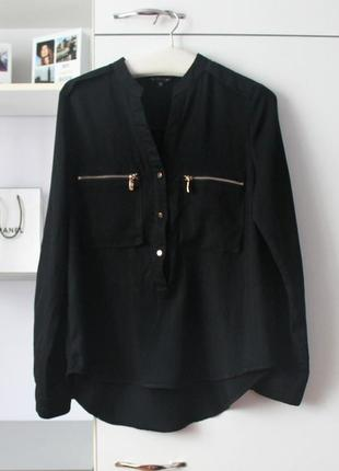 Черная мягенькая рубашка от chic et jeune