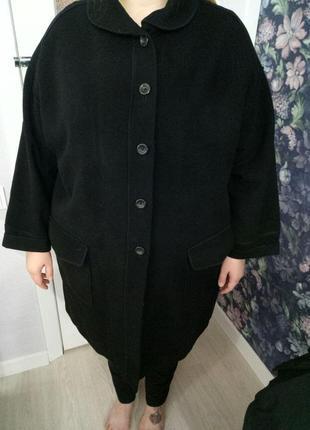Легкое шерстяное пальто от ulla popken, размер 24/26