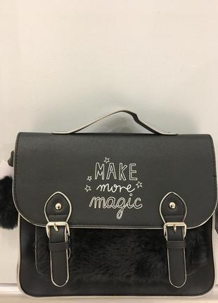 Сумка-почтальонка, сумка-портфель. для девочки/девушки/детская.