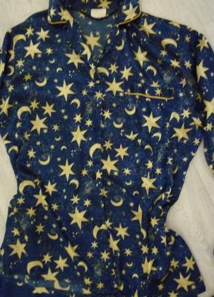 Атласная пижама в звездах, l-xl