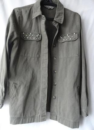 Куртка - рубашка в стиле милитари