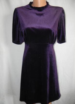 Новое бархатное платье primark