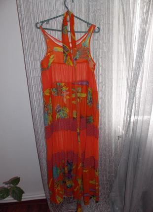 Отличное пляжное платье. летнее платье. шифоновое платье. платье в пол+ подрочек
