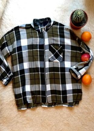 Рубашка оверсайз рубашка в клеточку рубашка на замок