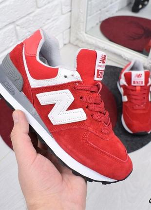 Кроссовки красние натуральная замша nb3 фото