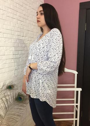 Блуза рубашка с рисунком