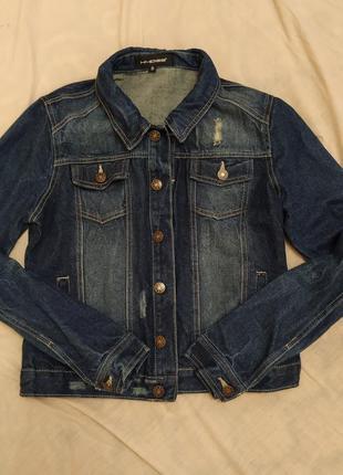 Джинсовая куртка пиджак chicoree