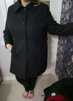 Новое полушерстяное пальто от yessica, большой размер, 26 размер